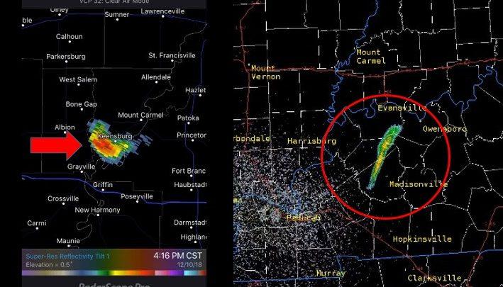 """Estados Unidos, fenómeno """"misterioso"""" de 80 kilómetros capturado en un radar del Servicio Meteorológico Nacional"""