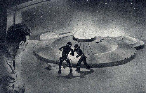 Aterrizaje de disco volador y contacto con sus tripulantes en  Guyancourt