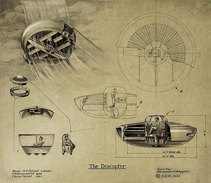 El genio misterioso que patentó el ovni