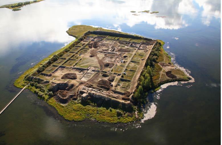 la fortaleza en el lago siberiano…