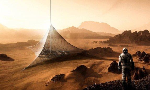 Marte pirámides y habitantes
