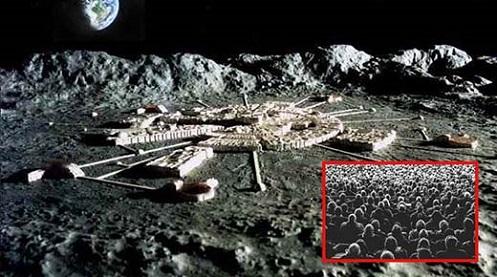 """Luna: """"Instalaciones ocultas a través de la tecnología holográfica""""."""