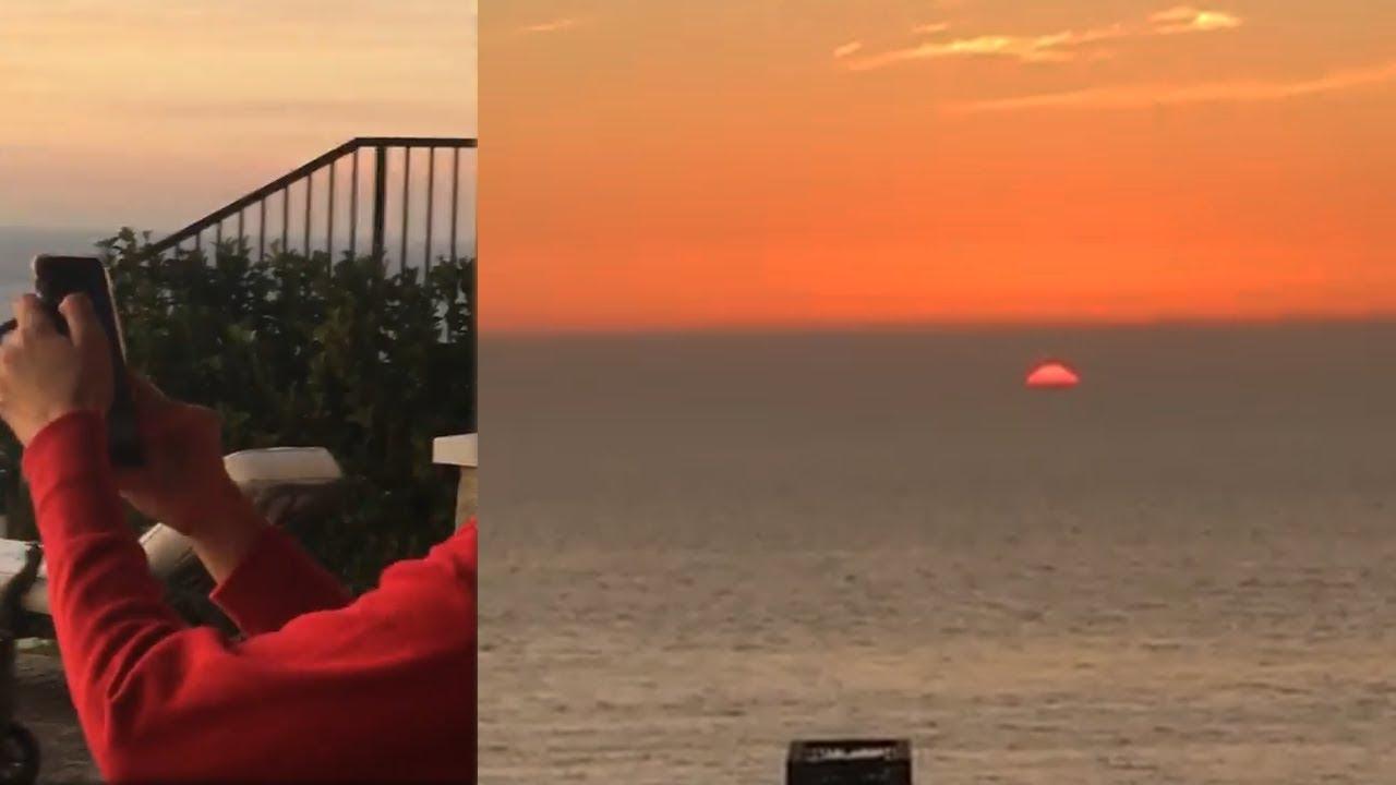 EL SOL SE PONE DENTRO DEL OCEANO