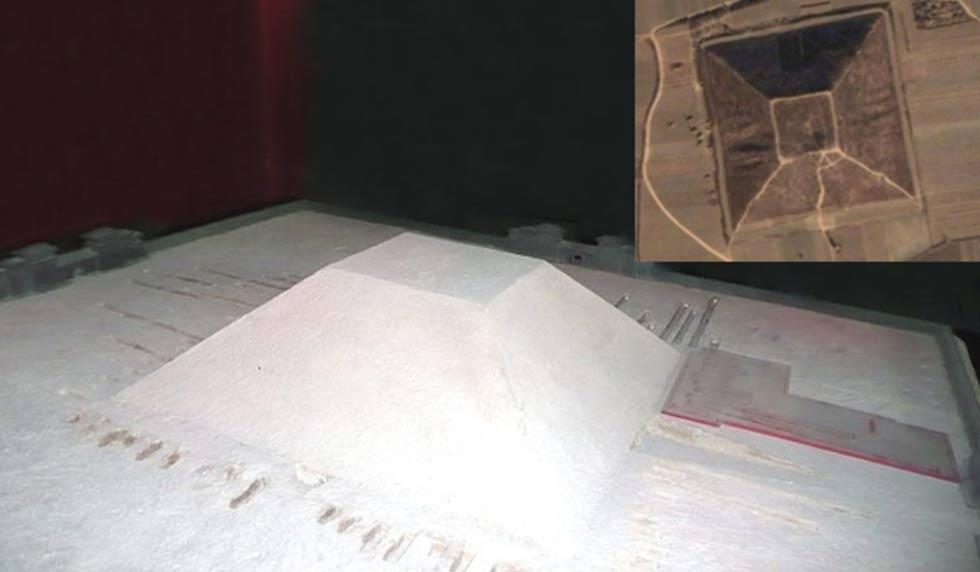 En busca de la legendaria 1.000 pies Pirámide Blanca de Xian