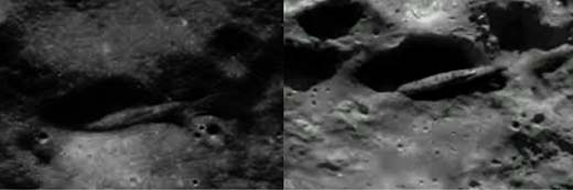 FOTO DE LA NASA PRUEBA QUE LA MISIÓN APOLO 20 FUE A INVESTIGAR UNA MASIVA NAVE EXTRATERRESTRE EN LA LUNA
