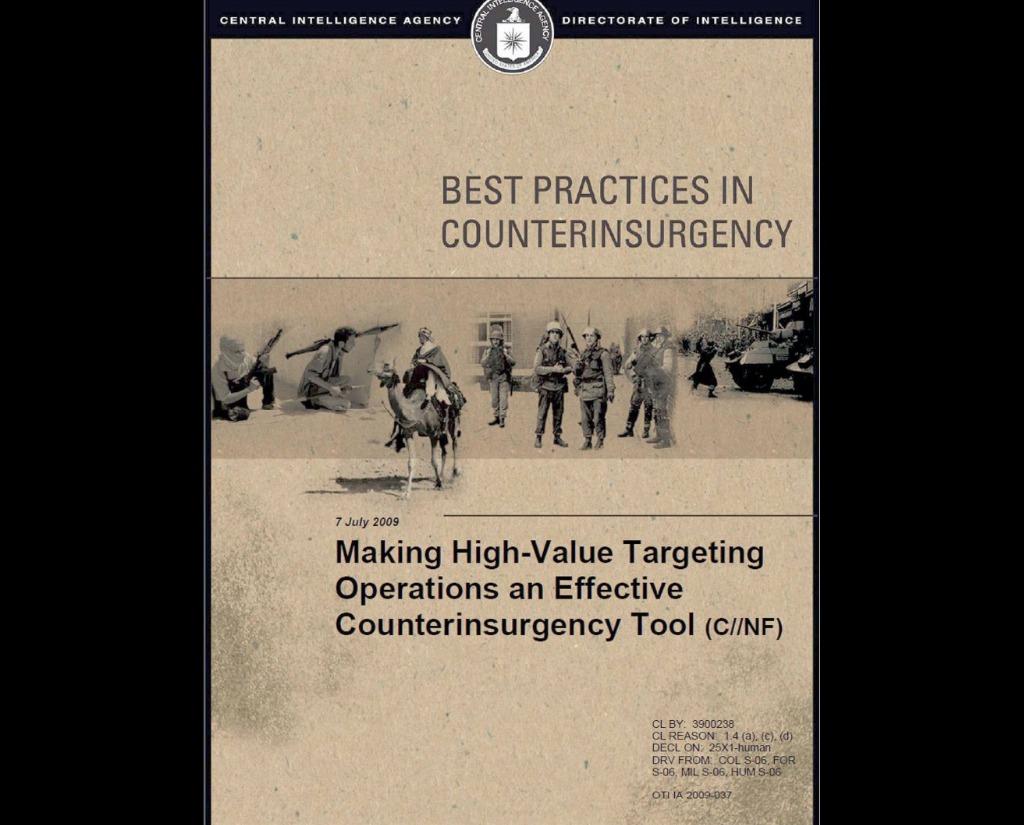 La CIA recomienda el asesinato contra insurgencias