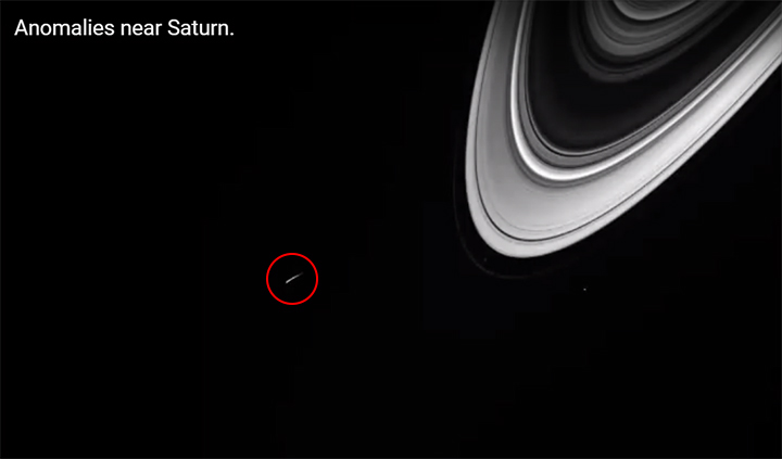 Numerosa actividad OVNI ha sido fotografiada cerca de Saturno