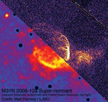 Primera evidencia de gigantescos restos de explosiones de estrellas.