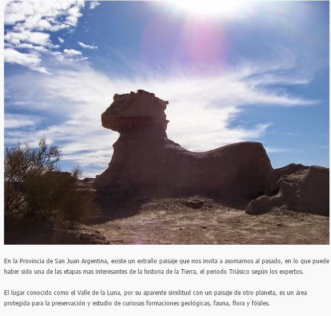 El Misterioso Valle de la Luna Argentina: ¿Esfinges Ancestrales? ¿Vestigios Extraterrestres?
