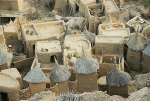 Hombres-peces en el pueblo Dogon