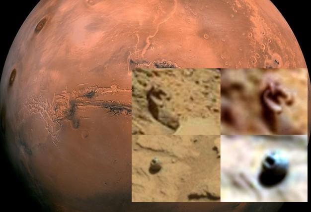 MARTE, el Rover Curiosity Fotografía Misteriosos Objetos «Artificiales».