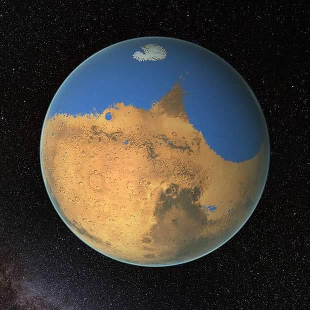 NASA afirma que Marte tuvo más agua que el Océano Ártico de la Tierra