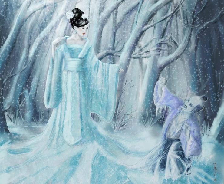 Yuki-Onna, el espeluznante fantasma de nieve de Japón