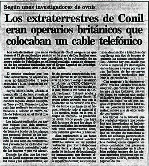 EL CASO CONIL: El encuentro OVNI más IMPORTANTE de la historia en España. Ets y metamorfosis