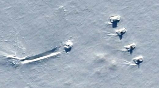 Extraños Vehículos encontrados en la Antártida