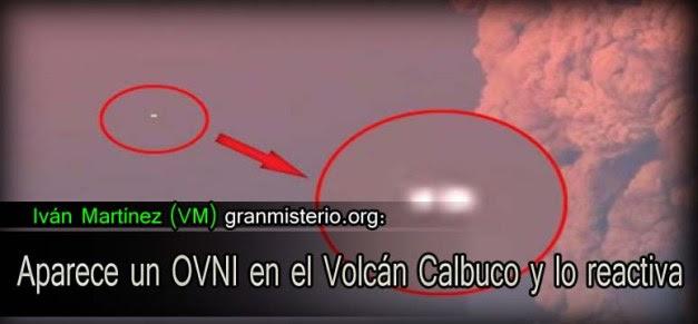 Aparece un OVNI en el Volcán Calbuco y lo reactiva