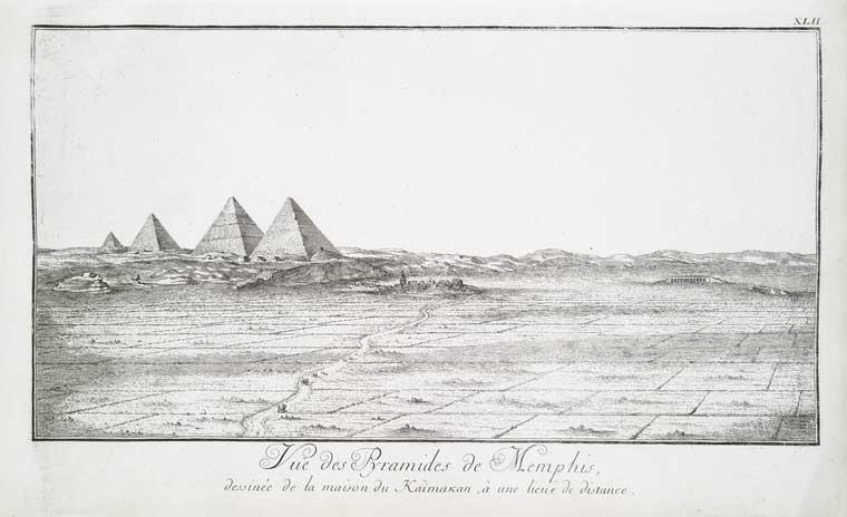 Dónde está la pirámide negra representada en un manuscrito antiguo de la meseta de Giza?