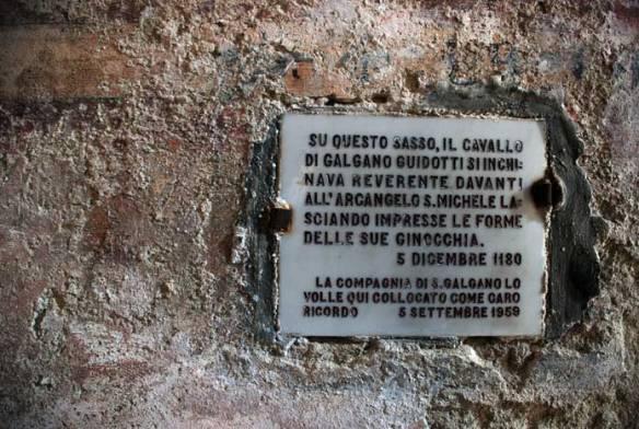 La espada de San Galgano, el Excalibur italiano