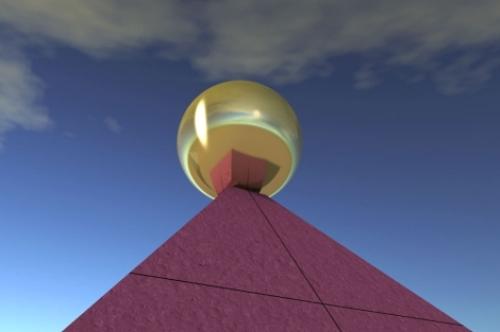 La gran pirámide no estaba coronada por una esfera