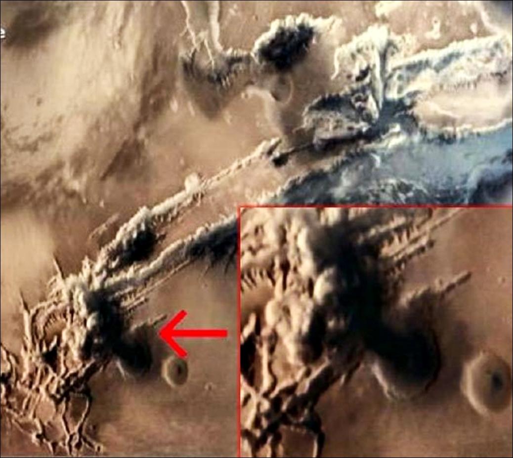 La India fotografía la explosión de un hongo nuclear en Marte