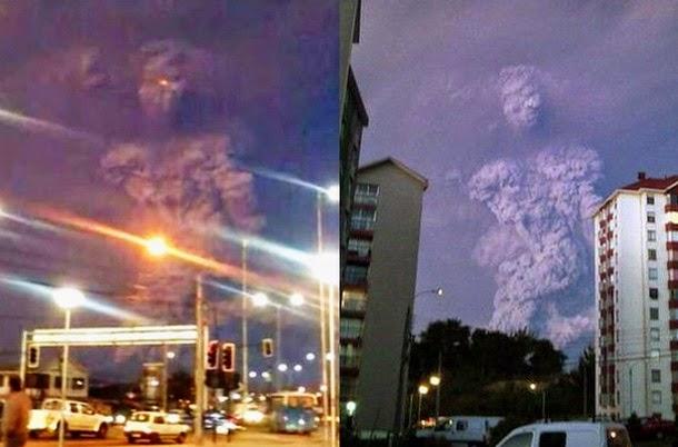 Pareidolia de un titan tras la erupción en chile