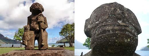 Pueden representar estas estatuas a extraterrestres?