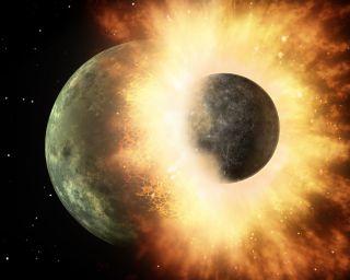 La luna puede haberse formado cuando el magma de la Tierra fue expulsado al espacio