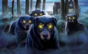 Perros negros espectrales