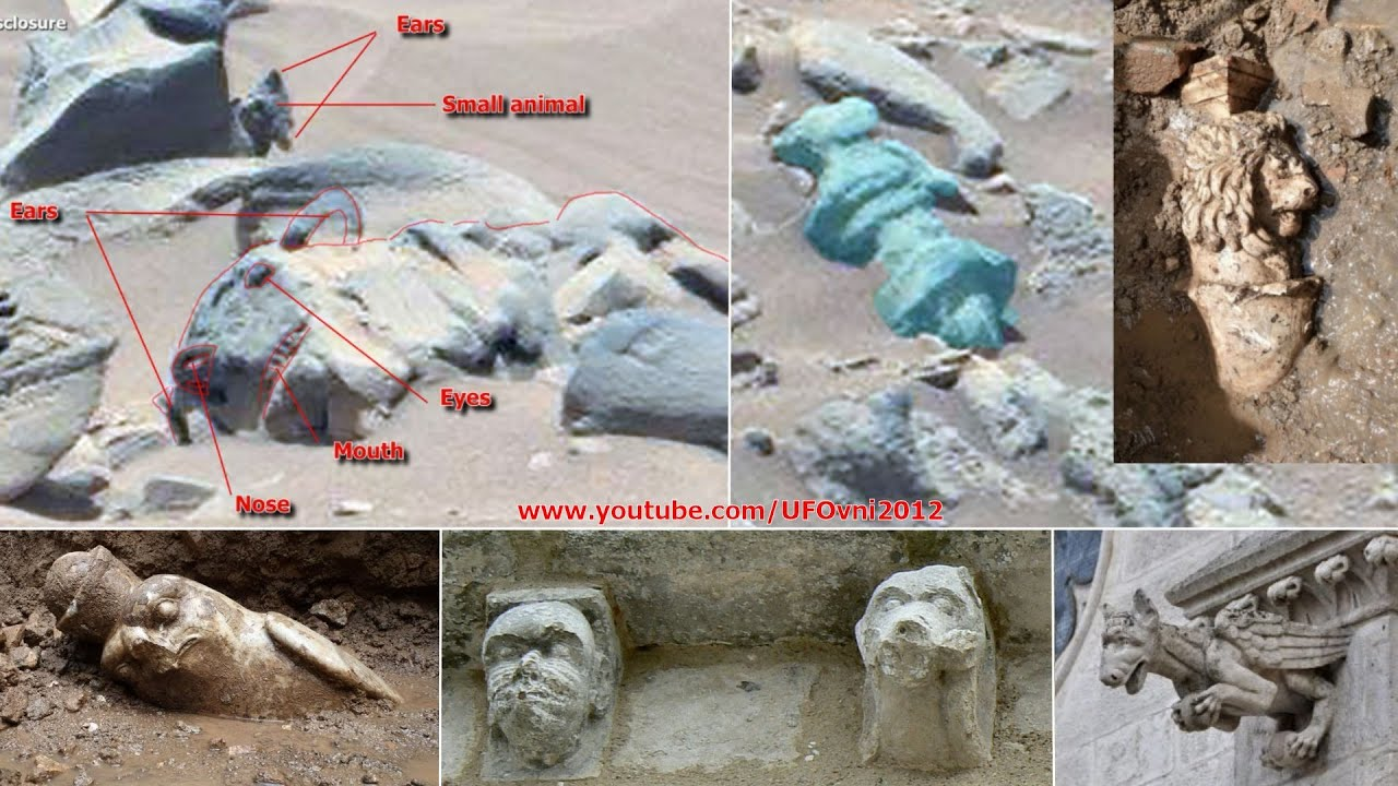 Ancient Aliens On Mars: Curiosity Spotted Carved Animal Statue and Strange Artifacts