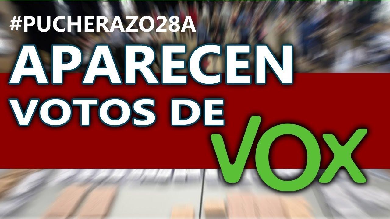 Aparecen votos de VOX perdidos