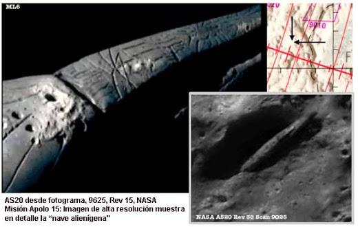 Apolo 20: La nave espacial extraterrestre y la Mona Lisa …en la Luna