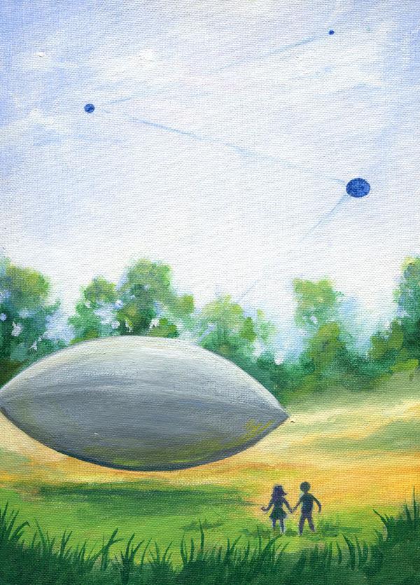 El cuadro de 1966 mostrando un OVNI