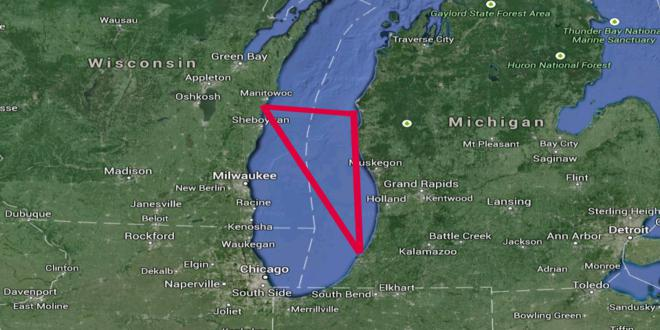 El triangulo del lago Michigan