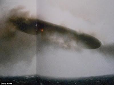 Imágenes de la Marina estadounidense muestran ovnis sobre el Ártico