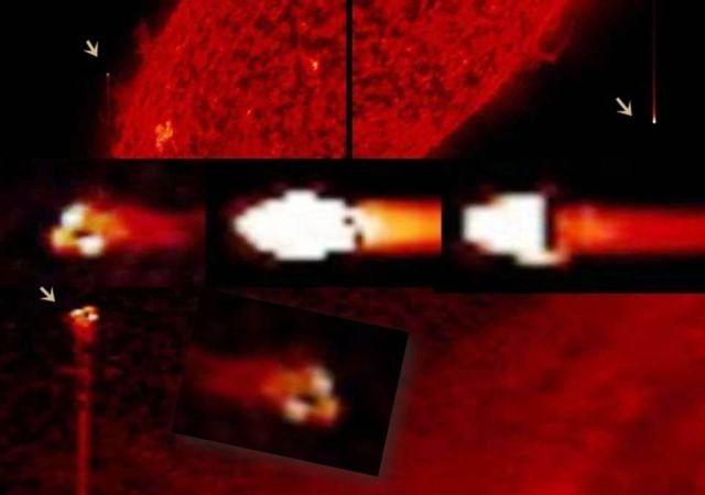 OVNI Triangular y Objetos Extraterrestres Alrededor del Sol