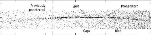 Un objeto de proporciones astronómicas ha perforado la galaxia