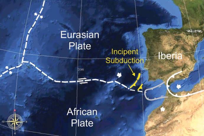 Una placa tectónica se está desprendiendo y podría achicar el océano Atlántico
