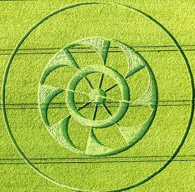 Un generador electromagnético representado por el Crop Circle apareció en Hampshire?