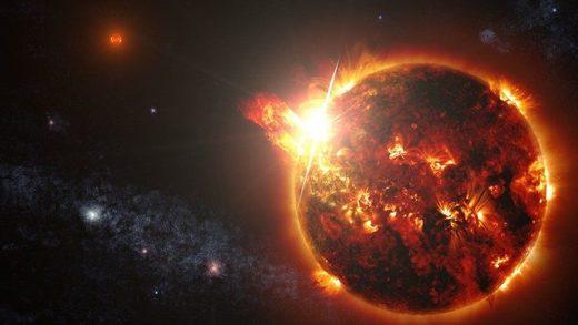 Detectan y miden una erupción estelar gigante por primera vez