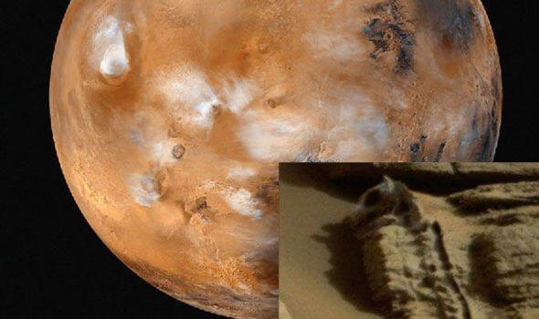 Dinosaurio fosilizado encontrado en el planeta rojo