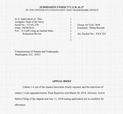 Documento de la oficina de patentes revela que la marina de los EEUU estaría probando naves electromagnéticas