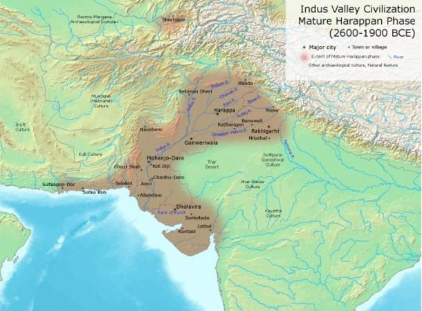 Esqueletos de Harappa excavadas en la india de civilizacion de mas de 5000 años