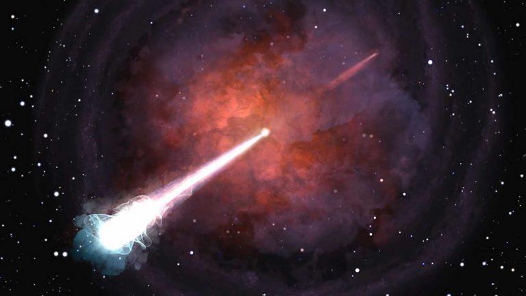 Hallan una red cósmica que conecta a dos galaxias por medio de un puente de ondas de radio
