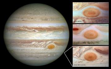 La gigantesca tormenta de Júpiter está reduciendo su tamaño rápidamente