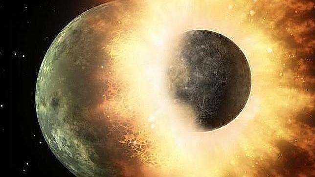 LaLuna, formada en una explosión nuclear natural