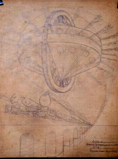 La misteriosa caja con planos y dibujos de extraterrestres con alas fechada en julio del año 1977