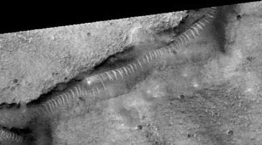 Los túneles de cristal en Marte