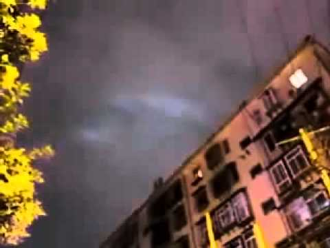 Un dragón sobre la ciudad china de Xi'an