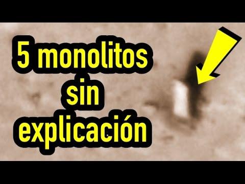 5 monolitos en el sistema solar