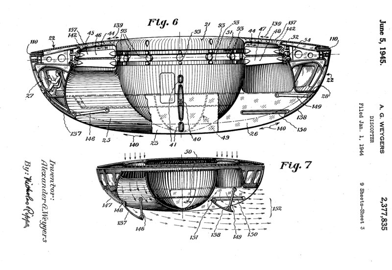 La larga y extraña historia de las personas que presentan patentes de platillos volantes